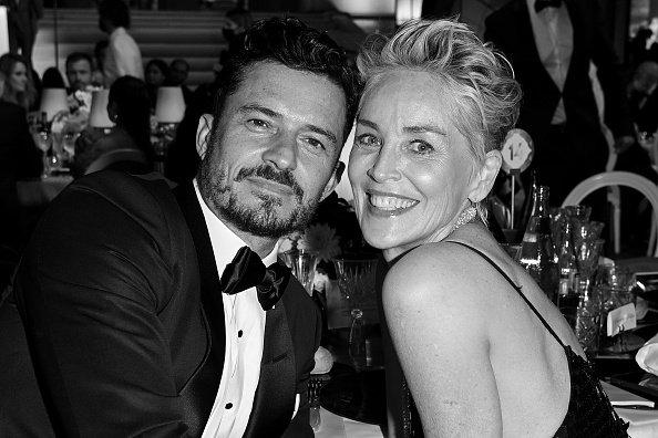 Sharon Stone and Orlando Bloom