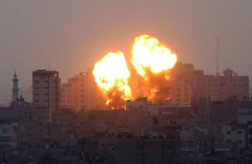 Explosion After Airstrike on Gaza City
