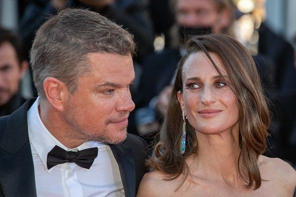 Matt Damon and Camille Cottin