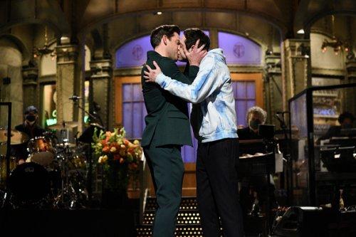 John Krasinski Kisses Pete Davidson