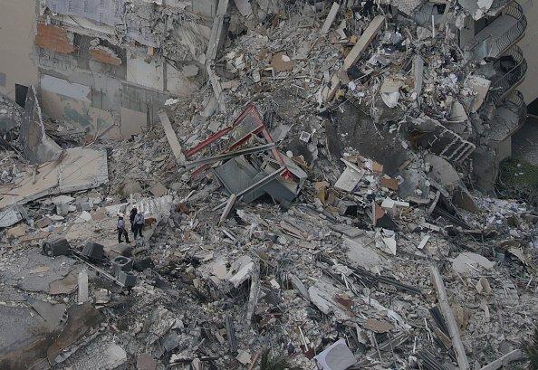 Debris from overhead