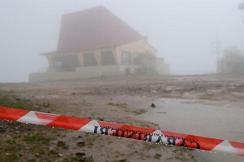 Stazione d'arrivo della funivia Stresa-Mottarone sulla cima del Mottarone