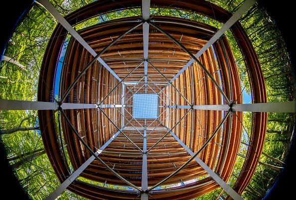 Inside the Usedom observational tower