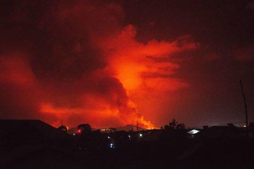 Flames from Nyiragongo