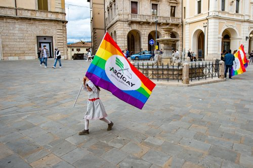 Manifestazione a supporto del Ddl Zan a Rieti
