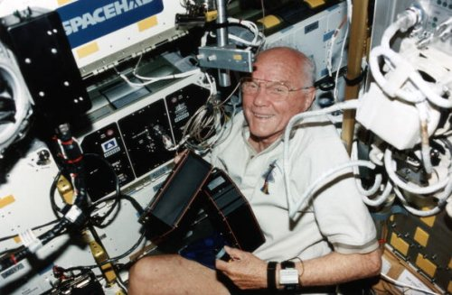 Oldest person in space