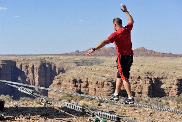 Nik Wallenda at the Grand Canyon