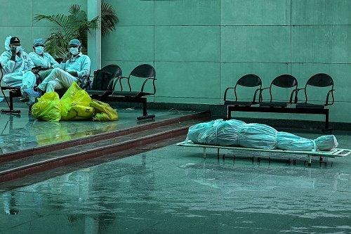 Operatori sanitari a Nuova Delhi