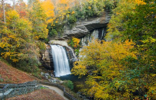 Looking Glass Waterfall, Pisgah National Forest