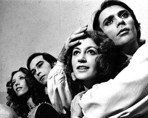 Natalia Makarova, John Prinz, Carla Fracci e Ivan Nagy in una pausa dalle prove di 'Romeo e Giulietta' dell'American Ballet Theatre