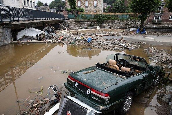Car damaged in Theux, Belgium