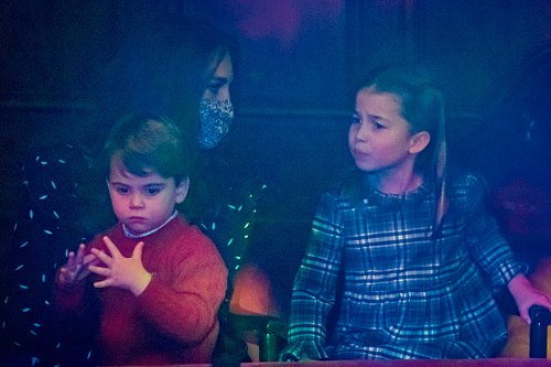 Catherine, Prince Louis and Princess Charlotte in 2020
