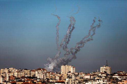 Razzi di Hamas sparati verso Israele