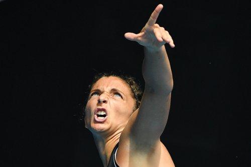 Sara Errani durante il match contro Hsieh Su-Wei agli Australian Open