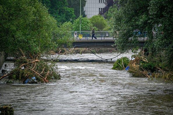 Volme River's rising waterline