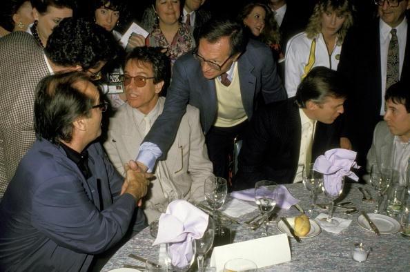 Jack Nicholson, Warren Beatty, Larry King, Donald Trump, Paul Simon, 1998