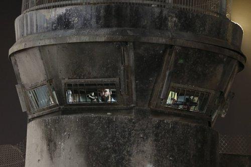 Israeli Soldiers Prepare to Fire Tear Gas
