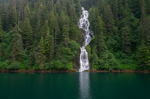 Waterfall in Tongass National Forest, Alaska