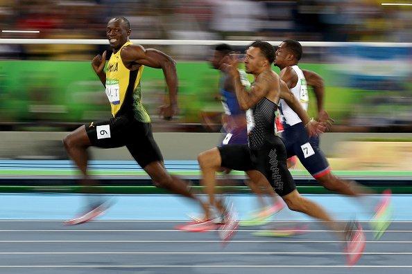 Usain Bolt's grin