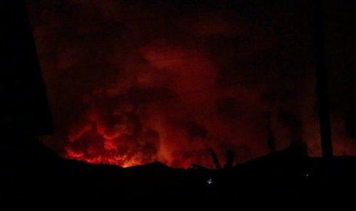 Night of the Mount Nyiragongo Volcano Eruption
