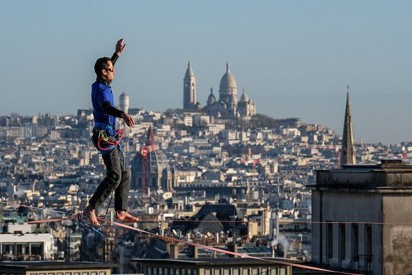 Highline between Eiffel Tower and Trocadero