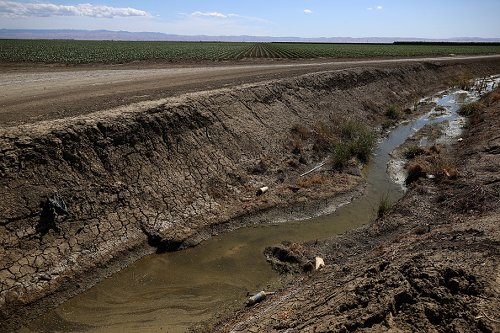 An irrigation canal in Central Valley