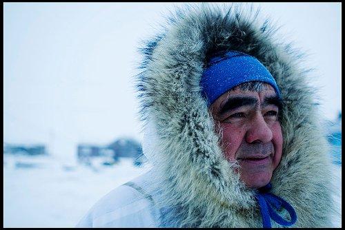 Activist braves arctic temps