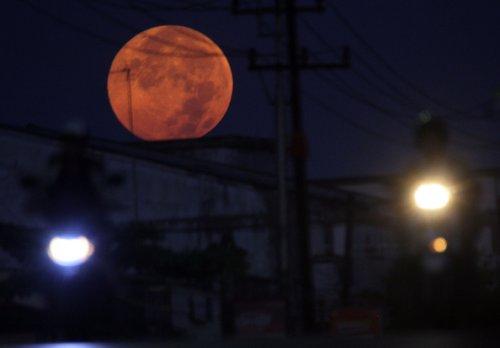 Super moon in Indonesia