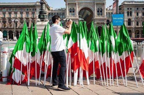 Bandiere italiane il giorno della Festa della Repubblica