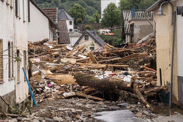 Debris in Western Germany