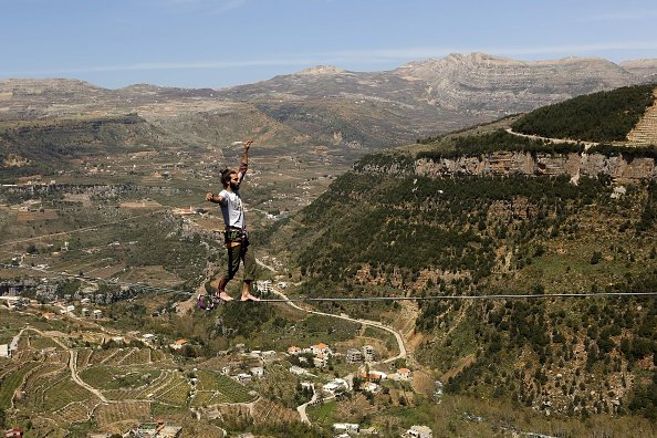 Over the Lebanese valley of Afqa