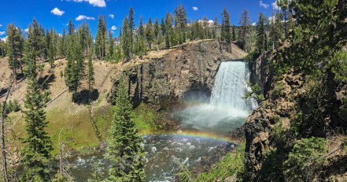 Rainbow Falls,  Inyo National Forest