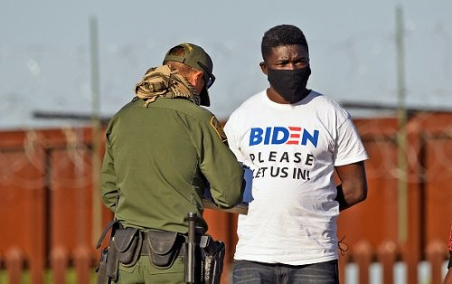 A man is detained by Customs and Border Protection
