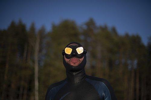 Arthur Guerin-Boeri stabilisci un nuovo record di apnea sotto il ghiaccio
