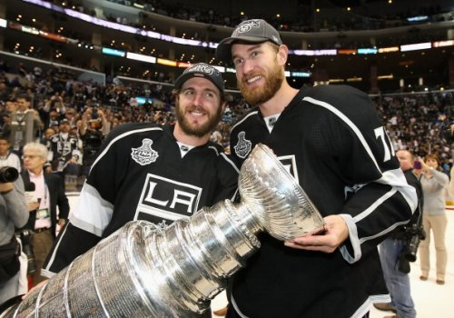 Kings' Mike Richards and Jeff Carter, 2012