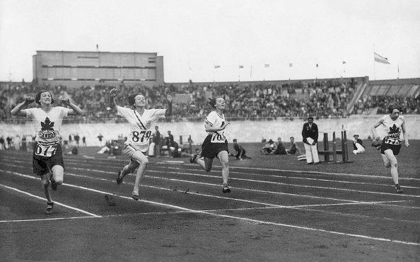Women's 100-meter final in 1928