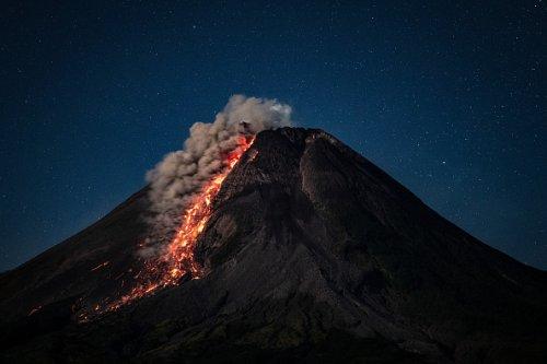 Active Volcano Mount Merapi