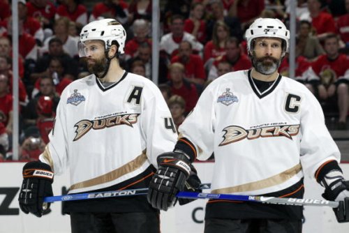 Ducks' Scott and Rob Nidermayer, 2007