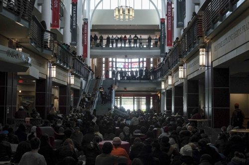 Ohio State University student sit-in
