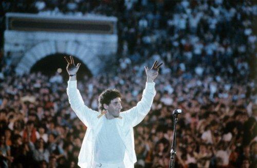 Durante un concerto all'Arena di Verona negli anni '80