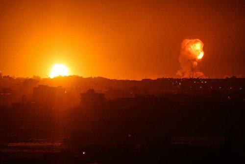 Fire From Israeli Air Strikes in Rafah