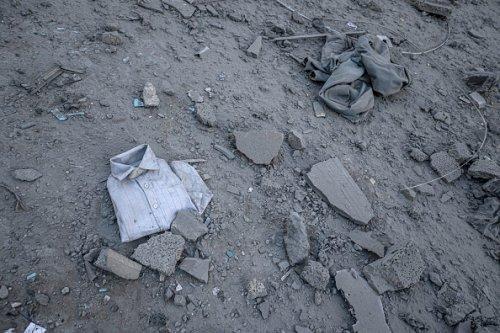 Le conseguenze dell'attacco alla torre Al-Jawhara nel centro della Città di Gaza