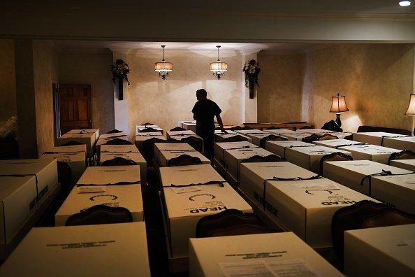 A funeral home in Queens, N.Y.
