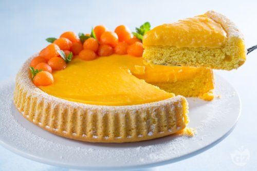 Crostata morbida con crema al melone