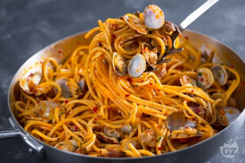Spaghetti vongole e nduja