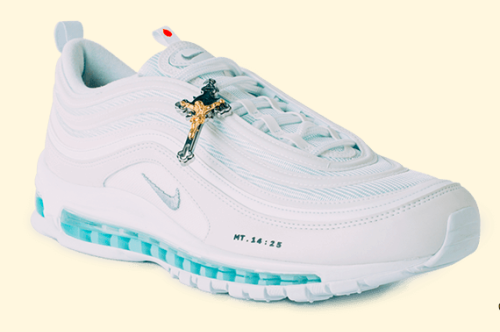 See The Nike Jesus Shoes Which Contain Actual Holy Water