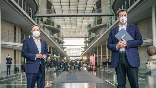 """Kanzlerkandidatur: Laschet und Söder in """"guten Gesprächen"""""""