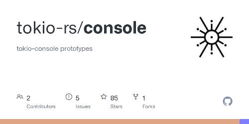 tokio-rs/console