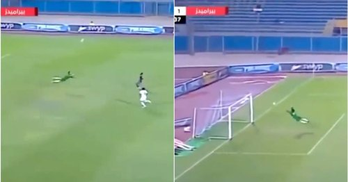 Egyptian goalkeeper is responsible for arguably the craziest save in football history
