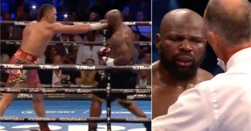 Carlos Takam was not happy with the ref after 'premature' Joe Joyce stoppage